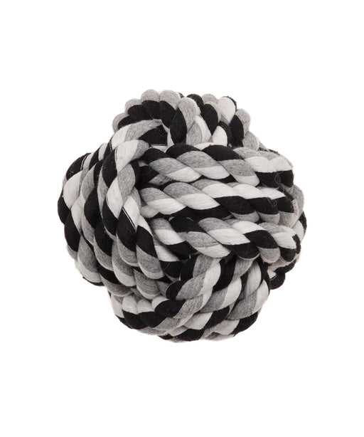 "fist knot ball dog toy 4"" diameter"