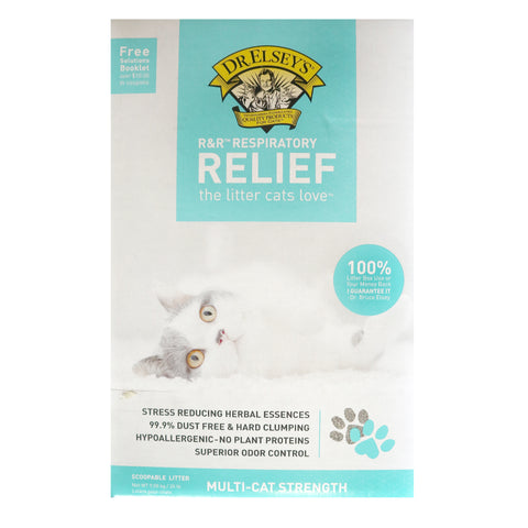 Dr. Elsey's Precious Cat Respiratory Relief Unscented Clumping Clay Cat Litter, 20-lb box