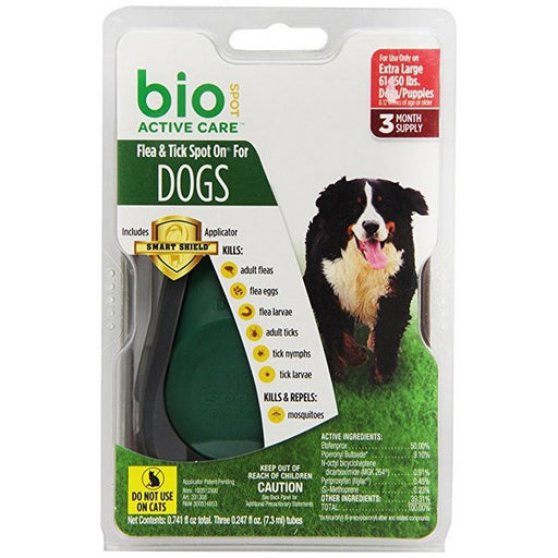 Bio Spot Active Care Flea  Tick Spot On For Dogs 61150 Lbs