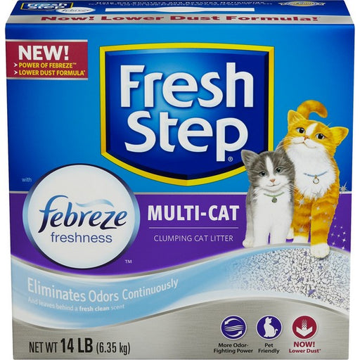 Multiple Cat Scoopable Clumping Cat Litter, 14 Lb