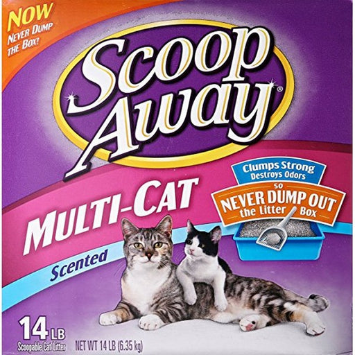 Scoop Away Multiple Cat Formula Litter, 14 Lb