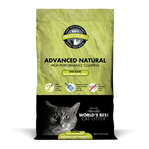 Worlds Best Cat Litter Advanced Naturals Pine Scent 12Lb