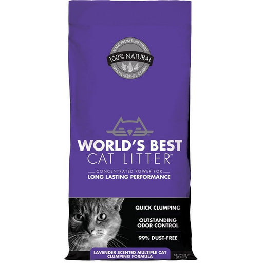 World'S Best Cat Litter Lavender Scented Multiple Cat Clumping Formula, 28 Lb