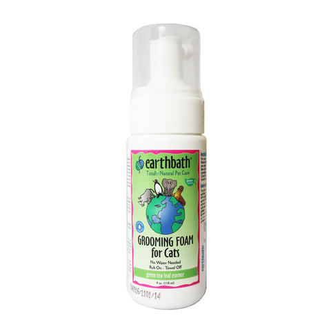 Earthbath Waterless Foam Green Tea Leaf Essence - Cats