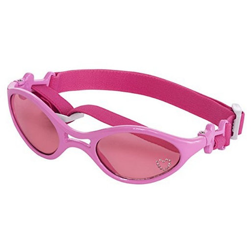 Shiny Pink With Pink Lenses K9 Optix Rubber Sunglasses For Dogs, Xs