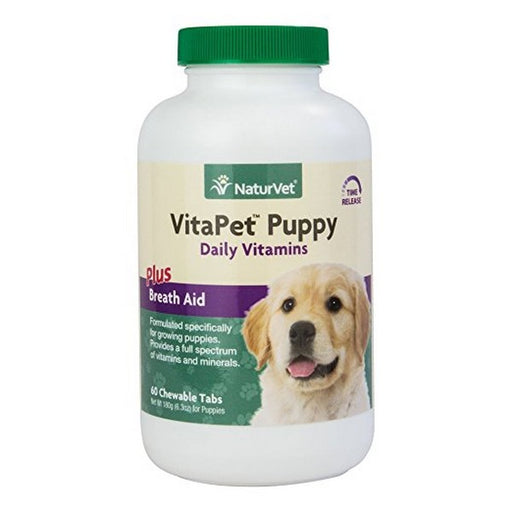 Vitapet Puppy Care Vitamins  Minerals Dog Tablets, 60 Ct