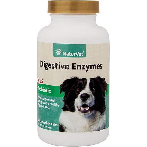 Digestive Enzymes With Probiotics Pet Tablets, 60 Ct