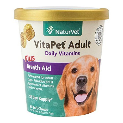 Vitapet Adult Plus Breath Aid Soft Chews For Dogs, 60 Ct