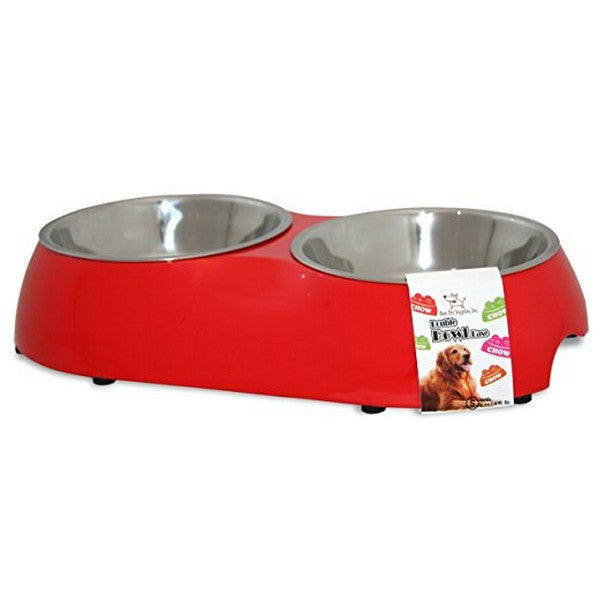 Double Pet Bowl  Red Small