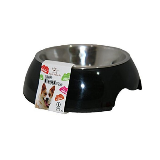Single Pet Bowl  Black Medium
