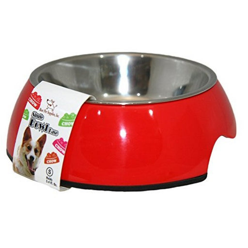 Single Pet Bowl  Red Medium