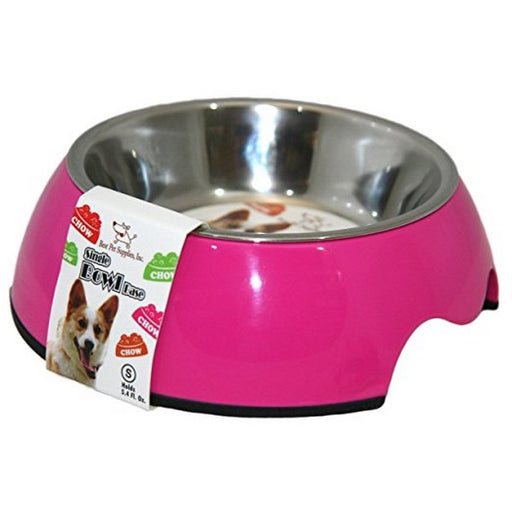 Single Pet Bowl  Fuchsia Medium
