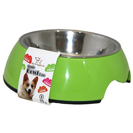 Single Pet Bowl  Lime Green Medium