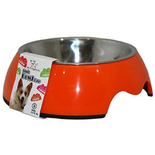 Single Pet Bowl  Orange Medium