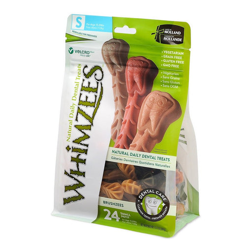 WHIMZEES Brushzees Natural Daily Dental Dog Treats 24 count