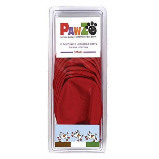 Pawz Red Waterproof Dog Boots, S