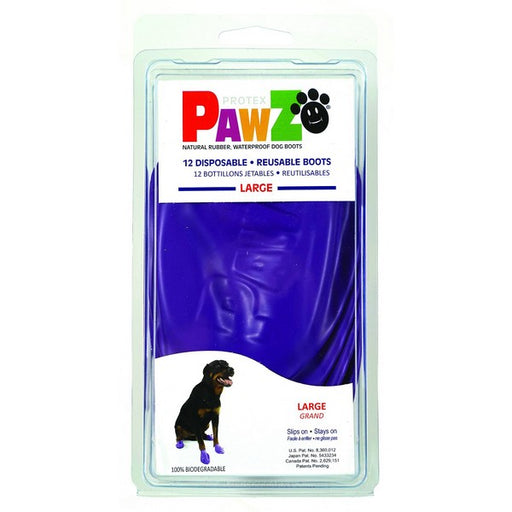 Pawz Purple Waterproof Dog Boots, L