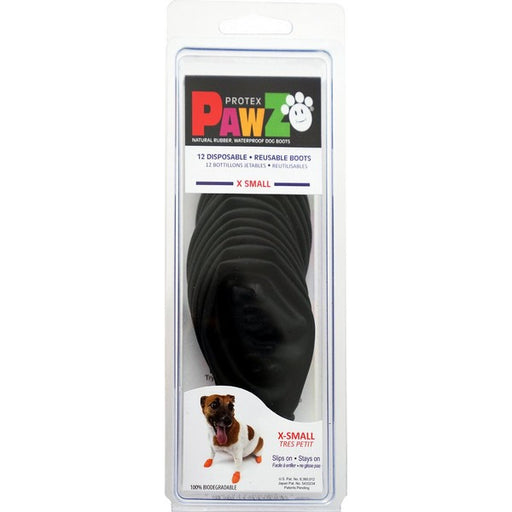 Pawz Black Waterproof Dog Boots, Xs