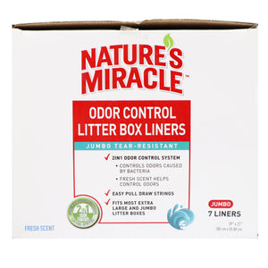 Nature's Miracle Odor Control Litter Box Jumbo Tear-Resistant Liners
