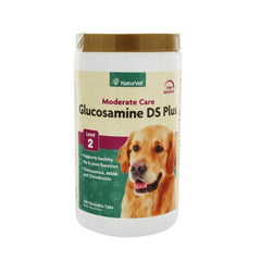 NaturVet Glucosamine DS Plus Moderate Care Level 2 Chewable Tabs