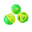 One Pack of 3 Piece Green Highlight Fish Paw Patterned Bell Balls