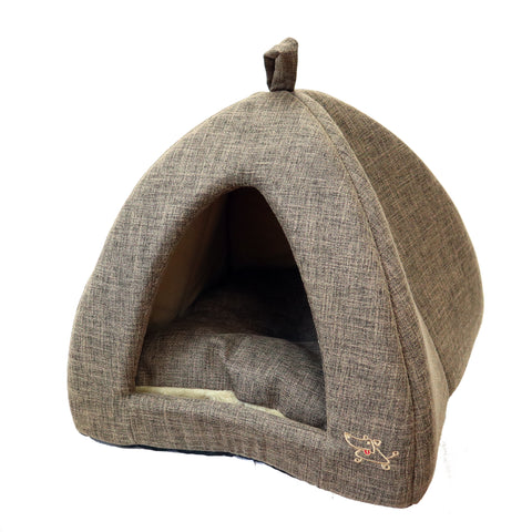 Pet Tent Soft Chenille Bed for Dogs & Cats