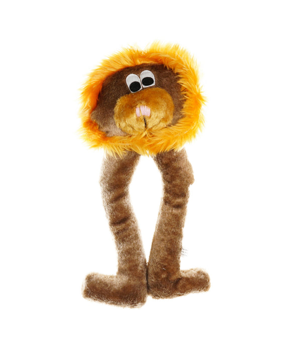 plush long leg lion dog toy with squeakers 13""