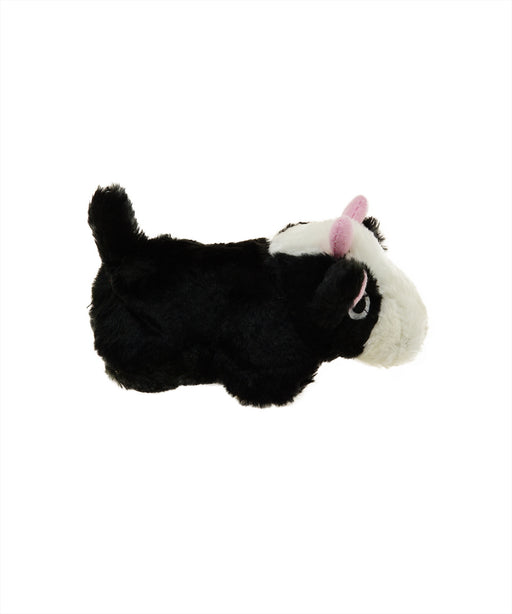 plush cow dog toy with realistic animal sound 7""