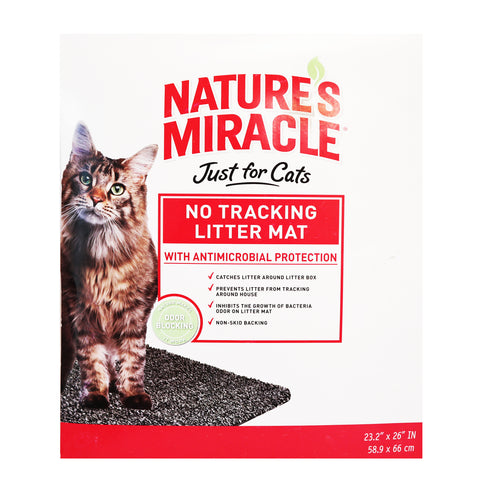 Nature's Miracle No Tracking Litter Mat with Antimicrobial Protection for Cats