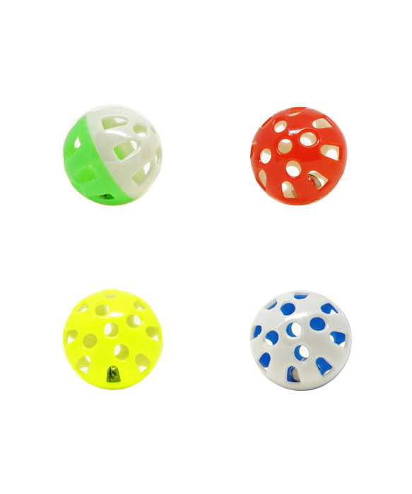 "just for cats jingling balls 1.5"" 4 pack"