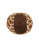plush brown ball dog toy 5""