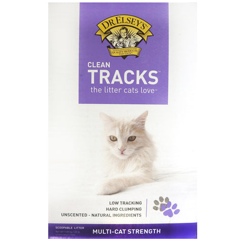 Dr.elsey's Clean Tracks Multi-Cat Strength, Low tracking, Hard Clumping, Unscented Natural Ingredients Scoopable litter for multiple cats or kittens