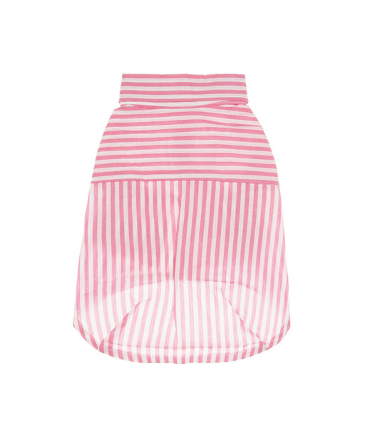 Striped Collar Shirt For Dogs in Pink M