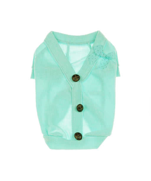 Soft Sheer Sweater For Dogs in Turquoise S