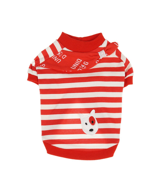 Striped Shirt For Dogs in Red  S