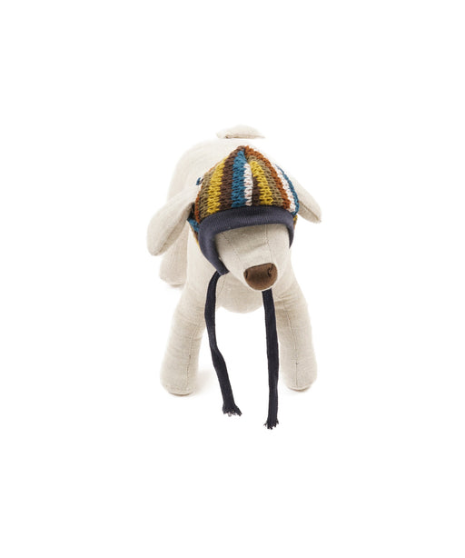 Warm Blue Mix Hat With String Tie For Dogs S