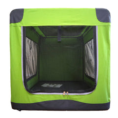 Guardian Gear Nylon Pioneer Soft Dog Crate, Green Xl