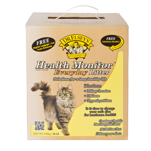 Dr. Elsey's Health Monitor Everyday Litter Solutions for A long Healthy life. Monitor Kidney Function, Diabetes, Hypethyroidism with free Solutions Booklet