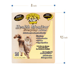 Dr. Elsey's Health Monitor Everyday Litter Solutions for A long Healthy life. Monitor Kidney Function, Diabetes, Hypethyroidism with free Solutions Booklet Sizing Measurements 8 Inch x 9.5 Inch