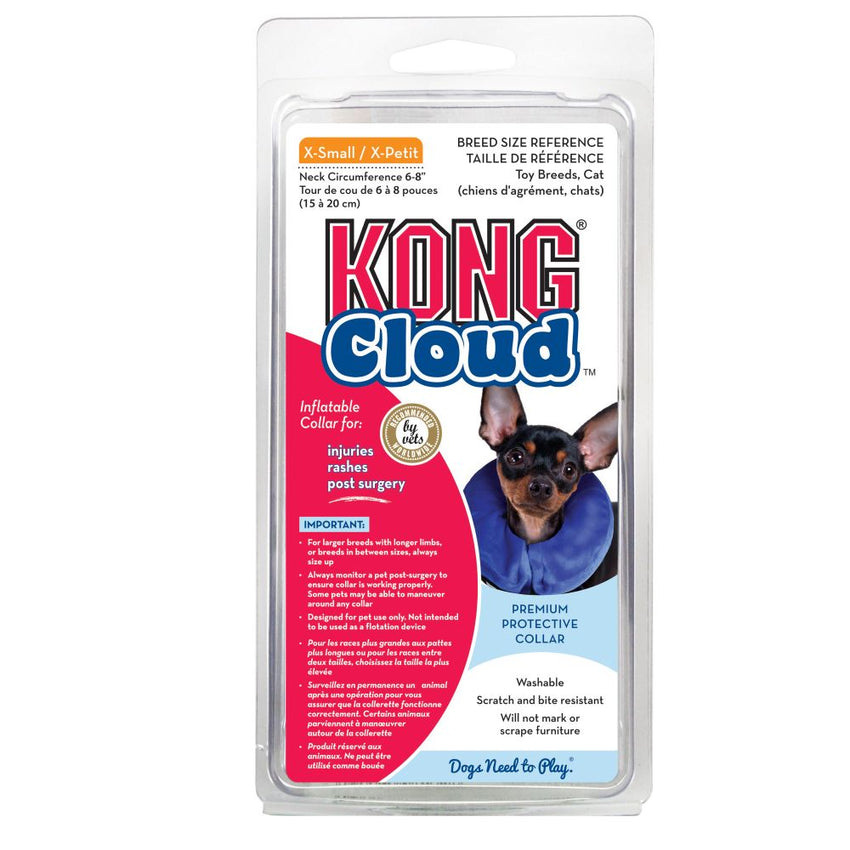 Kong Cushion Inflatable E-Collar Premium Protective Gear, Size Varies