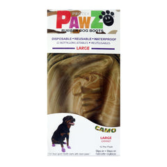 PAWZ Rubber Protective Dog Boots - Large