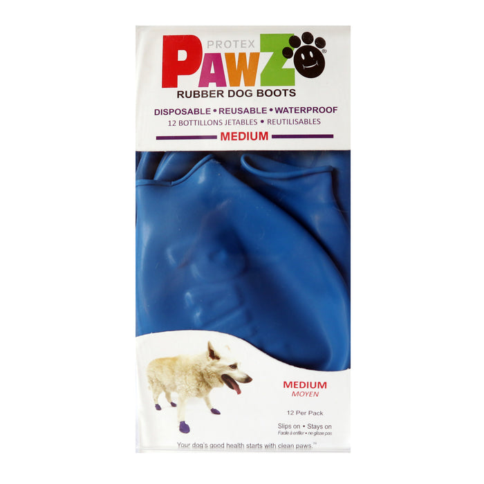 PAWZ Rubber Protective Dog Boots - Medium