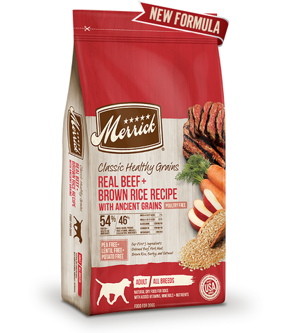 Merrick Classic Healthy Grains Real Beef + Brown Rice Recipe with Ancient Grains