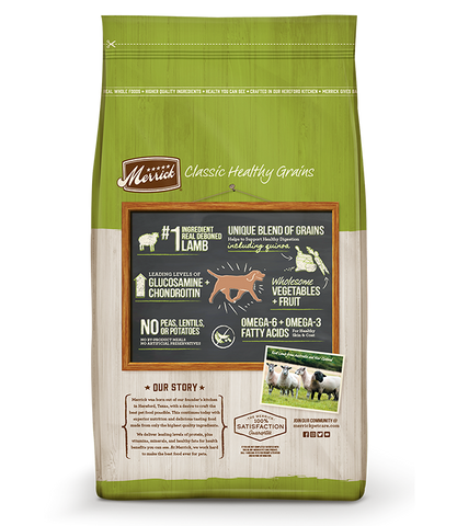 Merrick Classic Healthy Grains Real Lamb + Brown Rice Recipe with Ancient Grains