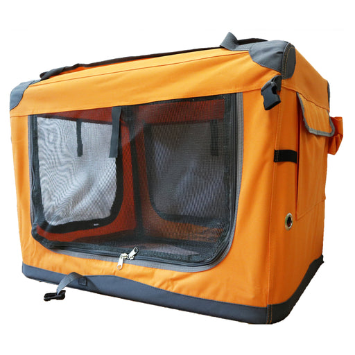 Guardian Gear Nylon Pioneer Soft Dog Crate, Apricot Orange Medium