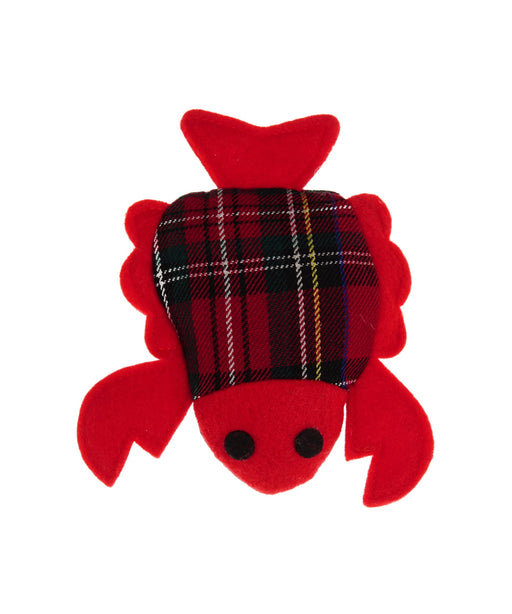 red crab cat toy with catnip 4""