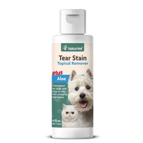 NaturVet Tear Stain Tropical Remover Plus Aloe 4fl. Oz