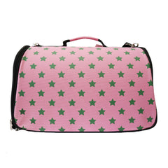 Paris Dog Pink & Green Carrier for Small Dogs and Cats