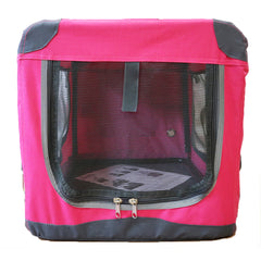 Guardian Gear Nylon Pioneer Soft Dog Crate, Hot Pink Small
