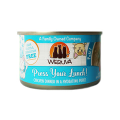 Weruva Press your Lunch! Can of Cat food Made with Tasty Chicken And beef dinner in a hydrating puree. grain gluten & carrageenan free
